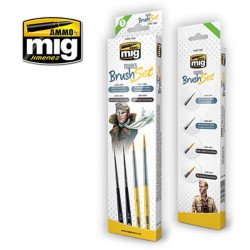 Ammo by Mig Figures Brush Set For Model Kits Mig 7600