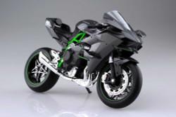 Aoshima 10457 Kawasaki Ninja H2R Die Cast Ready Built 1:12 Plastic Model Bike Kit