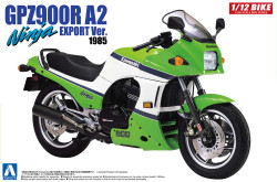 Aoshima 05397 Kawasaki Gpz900R Ninja A2 1:12 Plastic Model Bike Kit