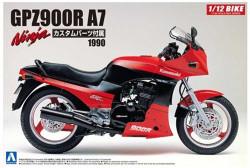 Aoshima 05454 Kawasaki Gpz900R Ninja A7 With Custom Parts 1:12 Plastic Model Bike Kit