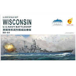 Very Fire USS Wisconsin VF350912 1:350 Battleship Plastic Model Kit