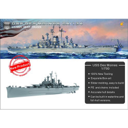 Very Fire USS Des Moines VF700907 1:700 Battleship Plastic Model Kit