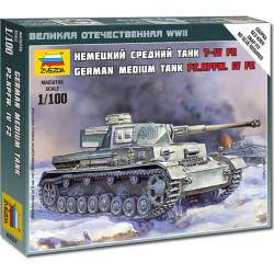 ZVEZDA 6251 Pz.Kpfw. IV Ausf.F2 Medium Tank 1:100 Snap Fit Model Kit