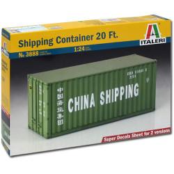 ITALERI 20ft Container 3888 1:24 Model Kit Trucks