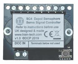 Train Tech Dual Dapol Servo Semaphore Signal DCC Controller Multi Scale SC4