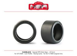 NSR Special RTR Slick 3/32 Rear for GT3 NSR 19.5x11 Racing 1:32 5260BLACK