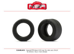 NSR RTR Black 3/32 Rear for Rally Cars 19x10 1:32 5264BLACK