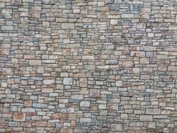 Noch Quarrystone Wall 3D Cardboard Sheet 25x12.5cm HO Gauge 56640
