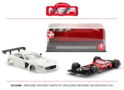 NSR Mercedes AMG White Body Kit (AW King EVO3 21k) 1:32 0115AW