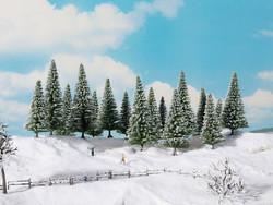 Noch Snowy Fir Standard Trees 4-10cm (16) Z Gauge 24683
