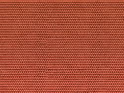 Noch Plain Red Tile 3D Cardboard Sheet 25x12.5cm HO Gauge 56690