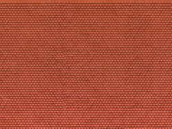 Noch Plain Red Tile 3D Cardboard Sheet 25x12.5cm HO Gauge 56690