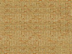 Noch Yellow Brick 3D Cardboard Sheet 25x12.5cm HO Gauge 56613