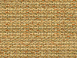 Noch Yellow Brick 3D Cardboard Sheet 25x12.5cm HO Gauge 56613