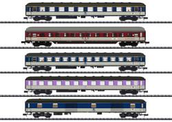 Minitrix (e) DB D730 Norddeich Mole-Munich Coach Set (5) IV N Gauge 15473