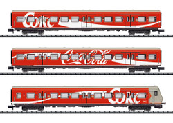 Minitrix DB S-Bahn Coca Cola Bi-Level Coach Set (3) V DCC-Fitted N Gauge 15708