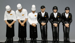 Kato Japanese Twilight Express Staff (6) Figure Set N Gauge 24-282