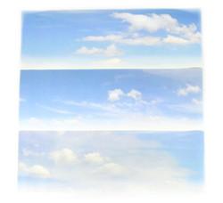 Gaugemaster Cloudy Sky Small Photo Backscene (1372x152mm) N Gauge GM755