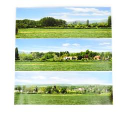 Gaugemaster Open Field Small Photo Backscene (1372x152mm) N Gauge GM753