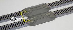 Kato Unitrack (S123RE) Straight Rerailer Track 123mm 2pcs HO Gauge 2-142