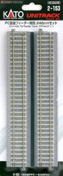 Kato Unitrack (S246PCF) CS Straight Feeder Track 246mm HO Gauge 2-153