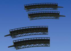 Faller Curved Track Beds (4) Building Kit I Z Gauge 282905