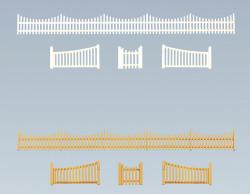 Faller Garden Fence with Gate Building Kit 540mm I N Gauge 272406
