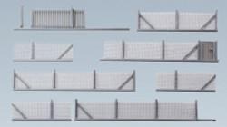 Faller Metal Industrial Fencing Building Kit 370mm III N Gauge 272420