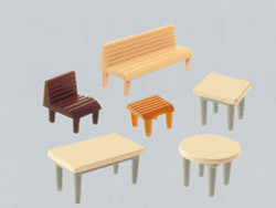 Faller Tables (7) Chairs (24) Benches (12) Building Kit III N Gauge 272440
