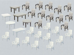 Faller Garden Chairs (24) and Tables (6) Building Kit IV N Gauge 272441
