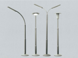 Faller Street Lamp Set (56) Building Kit N Gauge 272453