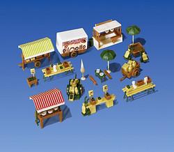 Faller Market Stalls and Carts Building Kit III N Gauge 272533