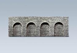 Faller Natural Stone Ashlars Round Arches Decorative Sheet N Gauge 272600