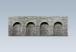 Faller Natural Stone Ashlars Round Arches Decorative Sheet N Gauge 272600