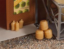 Faller Barrels (20) & Sacks (36) Building Kit I N Gauge 272907