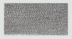 Faller Natural Stone Ashlars Wall Card 250x125mm N Gauge 222567