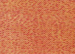 Faller Red Brick Wall Card 250x125mm N Gauge 222568
