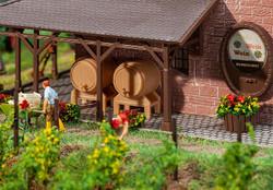 Faller Wooden Casks (2) & Tubs (2) Building Kit HO Gauge 180972