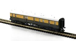 Dapol Collett Coach BR Chocolate/Cream Full Brake W195 N Gauge 2P-000-340