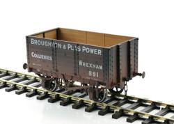 Dapol 7 Plank Wagon 9' Wheelbase Broughton & Plas Power 891 O Gauge 7F-073-006W