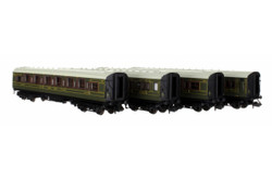 Dapol Maunsell High Window 4 Coach Set 193 Lined Olive Green N Gauge 2P-014-001