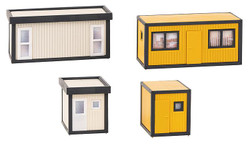Faller Building Site Mixed Offices (4) Building Kit HO Gauge 130136