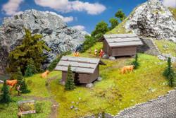 Faller Hay Barns (2) Building Kit HO Gauge 130636