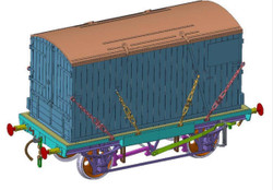 Dapol Conflat & Container GWR 39612/BD2 B-1788 Door to Door O Gauge 7F-037-002