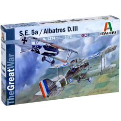 ITALERI S.E.5a And Albatros D III 1374 1:72 Aircraft Model Kit