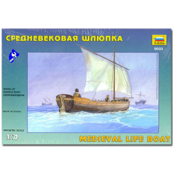 ZVEZDA 9033 Medieval Life Boat Dinghy Model Kit 1:72