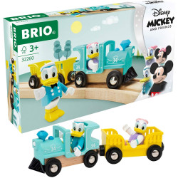 BRIO 32260 Donald & Daisy Duck Train for Wooden Train Set