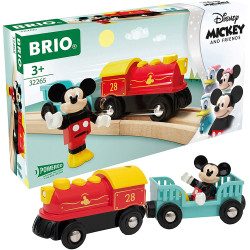 BRIO 32265 Mickey Mouse Battery Train for Wooden Train Set