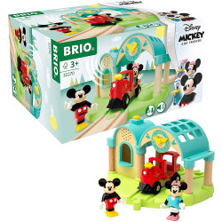 BRIO 32270 Mickey Mouse Train Station for Wooden Train Set