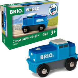 BRIO World 33130 Cargo Battery Engine for Wooden Train Set